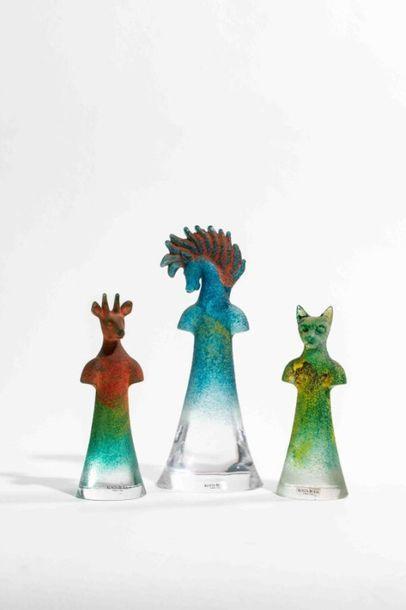 ENGMAN Kjell (1946) & KOSTA BODA Trois sculptures...