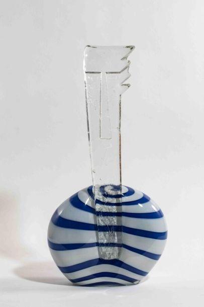 MORIN Nicolas (né en 1959) Sculpture en verre...