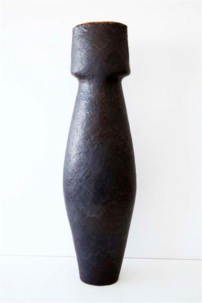 DEBRIL Claire (née en 1927) Vase piriforme...