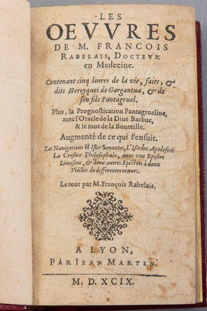 François RABELAIS. Les Oeuvres. Lyon, Jean...