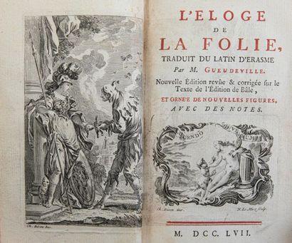 ERASME. L'Éloge de la folie. S.l.n.n., 1757....