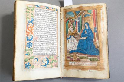 [LIVRE D'HEURES IMPRIMÉ À L'USAGE DE ROME]. Paris, Hardouin, s.d. (vers 1515). In-8,...
