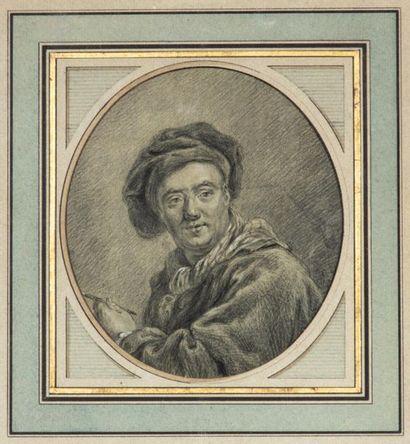 Ecole française XVIIIème siècle. Autoportrait...