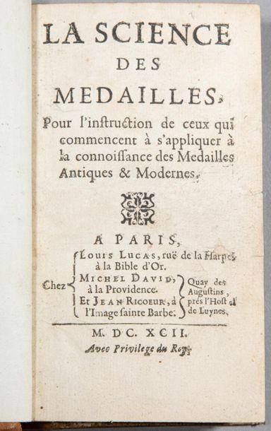 [Père Louis JOBERT]. La Science des médailles,...