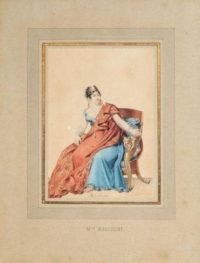 Jean Edmé Pascal DELACLUZE. (1778-1858) Portrait...