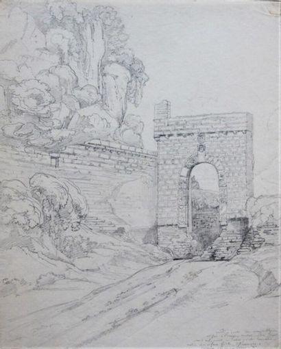 École française vers 1825 Quatre dessins...