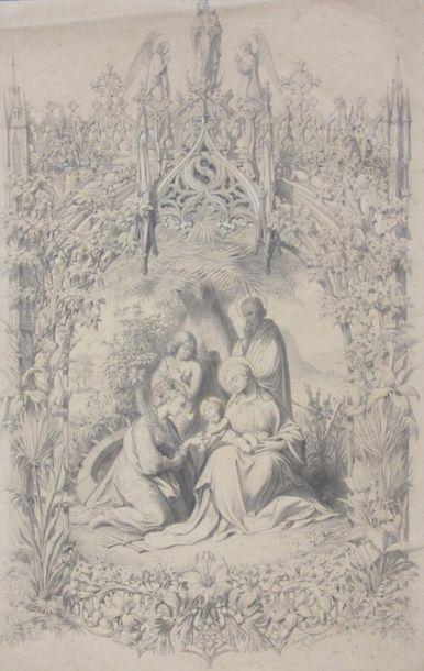 Pierre Amédé VARIN ( 1818-1883) La sainte...
