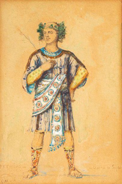 Gustave MOREAU (Paris 1826-1898) Costume...