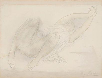 Auguste RODIN (1840-1917) Femme étendue et...