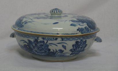 Légumier en porcelaine à décor florale en...