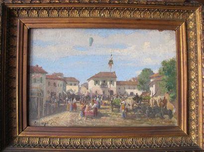 Ecole française du XIXe siècle La foire du...