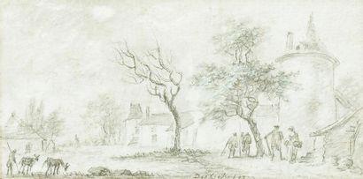 Aignan Thomas DEFRICHES (1715-1800) La place...