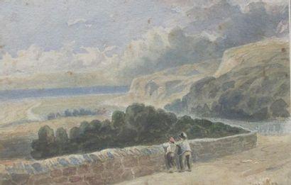 David COX (1783-1859) Paysage de bord de...