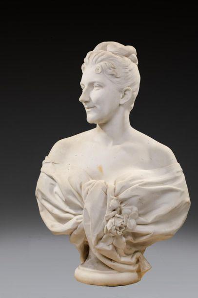 Gustave CRAUK (1827-1905) Portrait de femme...