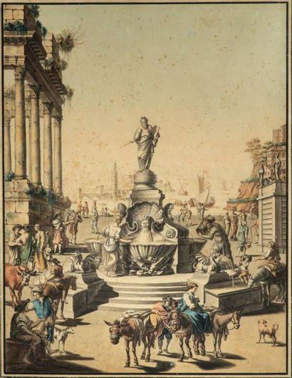 Ecole française fin XVIIIème - début XIXème...