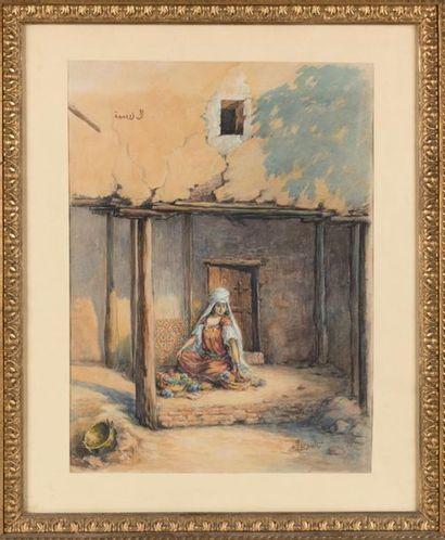 Aquiles Léon LACAULT né en 1866, Orientale...