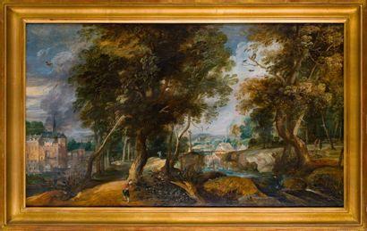 Ecole Hollandaise du XVIIème siècle, entourage...