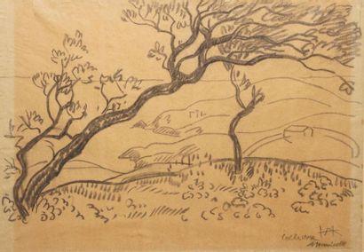 Augustin HANICOTTE (1870-1957) Paysage à...