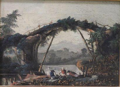 Attribué à Jean-Baptiste PILLEMENT (1728-1808)...
