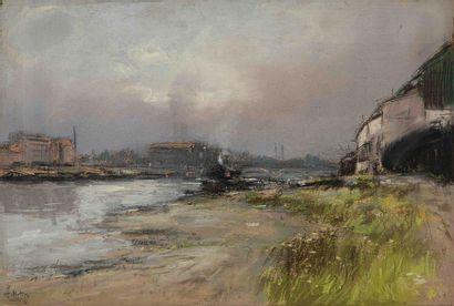 Pierre-Jacques PELLETIER ( 1867-1931) Quai...