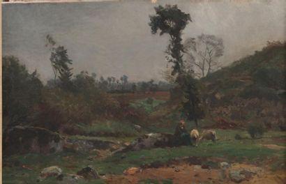 Suiveur de Jean-Baptiste COROT (1796-1875)...
