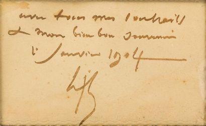 Henri Joseph HARPGINIES (1819-1916) Paysage Lavis d'encre noire, signé et daté en...