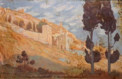 Lic KOGEVINAS (1887-1940) Paysage méditérranéen...