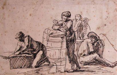 Attribué à Joseph VERNET (1714 - 1789) Etude...