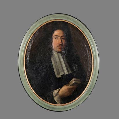 Ecole Française du XVIIème siècle. Portrait...