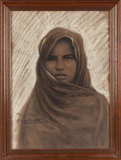 Georges CRETELLE (XIXe-XXe) Femme maure,...