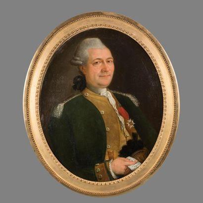 Ecole Française du XVIIIème siècle. Portrait...