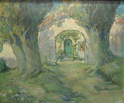 Marcel HAUSSAIRE (XIXe- XXe) Arbres et maisons...
