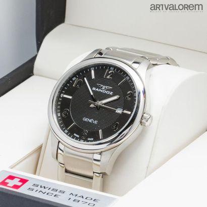 SANDOZ Genève Montre bracelet d'homme en...
