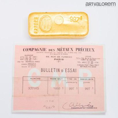 Lingot Poids de l'or fin : 997 g N°937025...