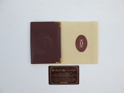 CARTIER Must de Cartier  Porte carte en cuir...