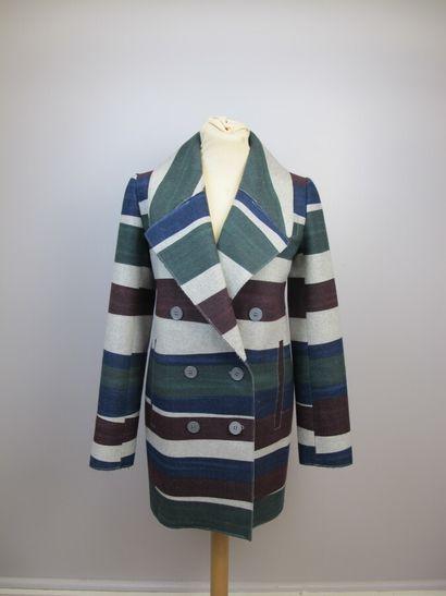 CARVEN  Veste en laine mélangée à rayures...
