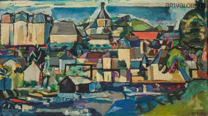 DESNOYER François (1894-1972)  Vue de ville...