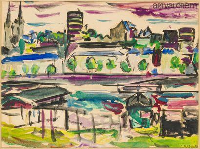 DESNOYER François (1894-1972)  Paysage à...