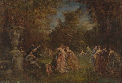 VIOLA Fernand (1853-1911)  Scènes champêtres...