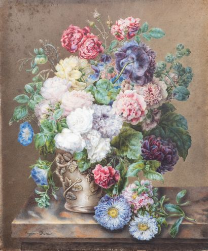 DURIEU Virginie (1820 Nîmes)  Bouquet de...