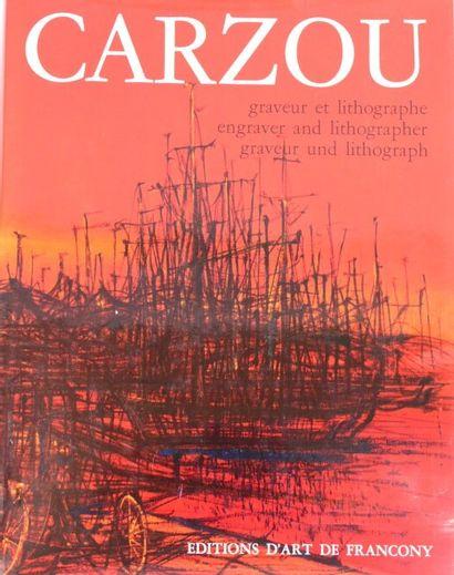CARZOU Jean (1907-2000)  Profil - Fleurs...