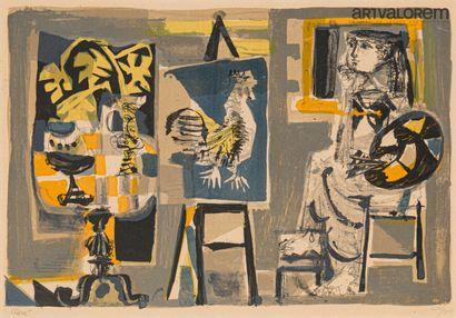 CLAVÉ Antoni (1913-2005)  L'atelier  Lithographie...