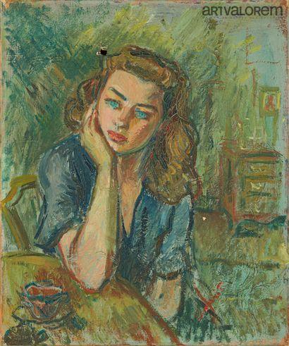 ANAHIT, XXe siècle  Jeune femme accoudée...