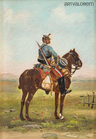 Ecole française du XIXème siècle  Militaire...