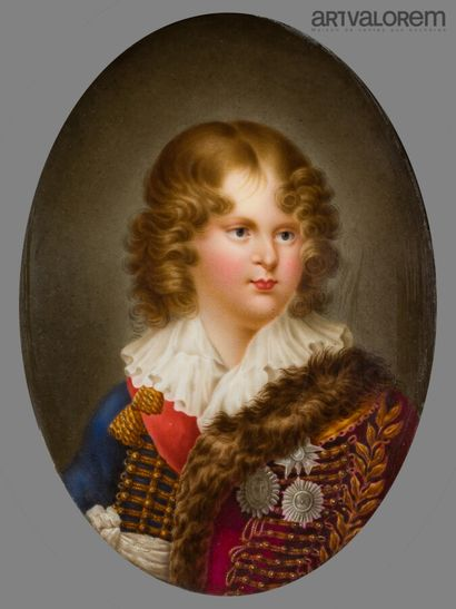 BOULLANGER Virginie (XIXe siècle)  Médaillon...