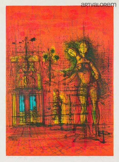CARZOU Jean (1907-2000) Figures rituelles,...