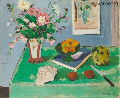 CAVAILLES Jules (1901-1977)  Compotier et...