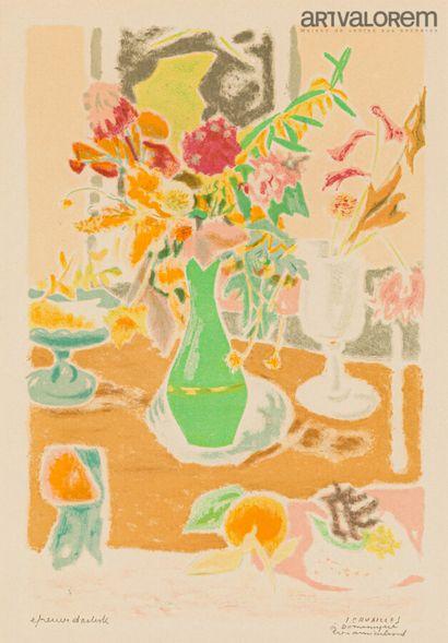 CAVAILLES Jules (1901-1977)  Bouquet au vase...