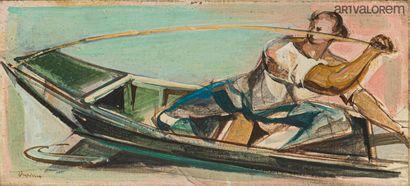 DESPIERRE Jacques (1912-1995)  Pêcheur en...
