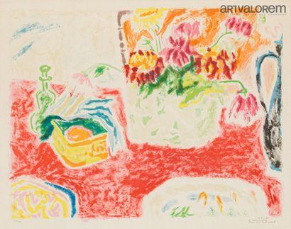 CAVAILLES Jules (1901-1977)  Bouquet à la...